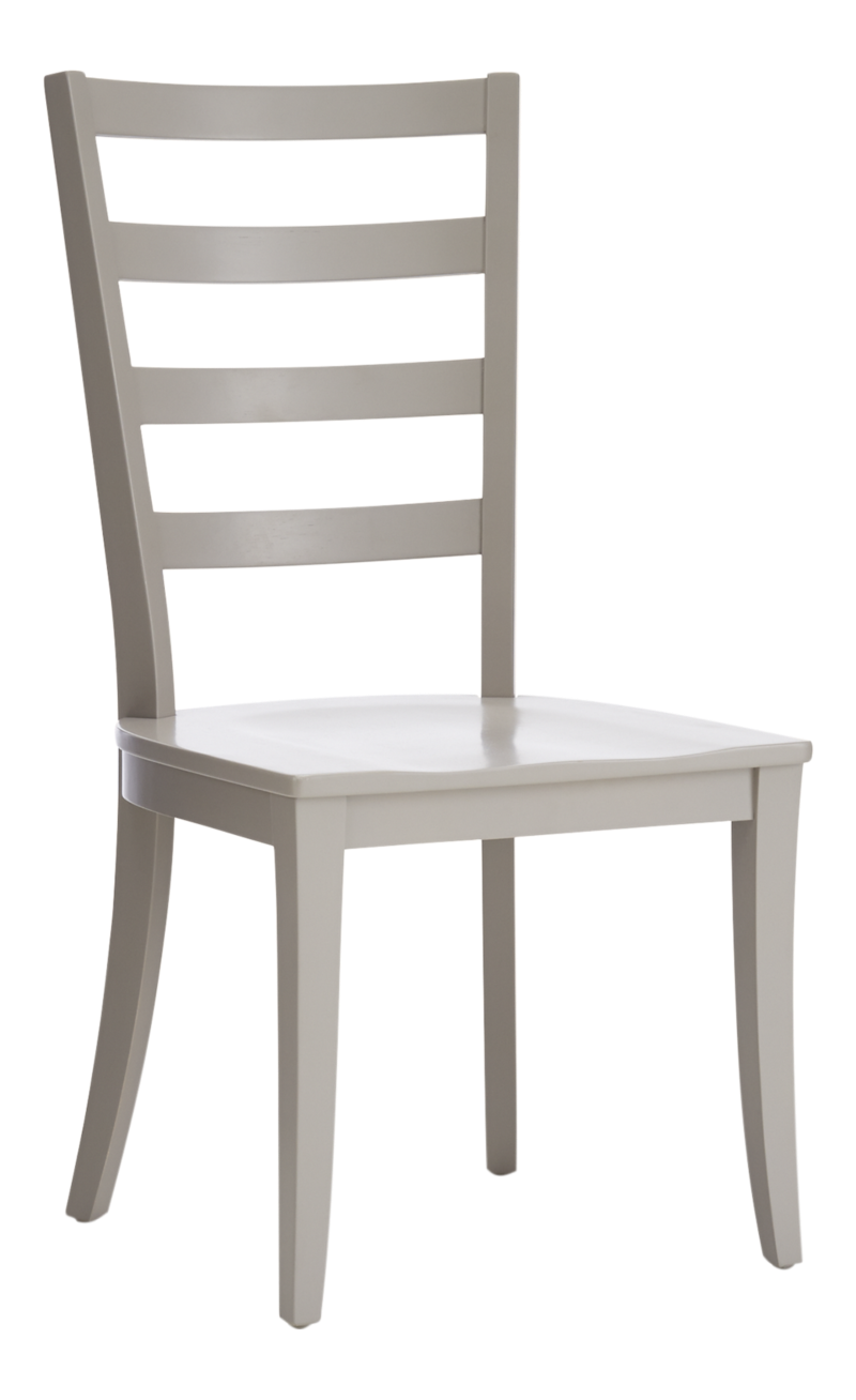 Harper Dove Grey Ladder Back Dining Chair and Sand Cushion