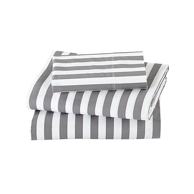 Organic Not A Peep Grey Stripe Toddler Sheet Set Reviews