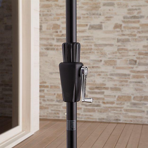 6' Round Tilt Black High Dining Umbrella Frame - Image 1 of 6