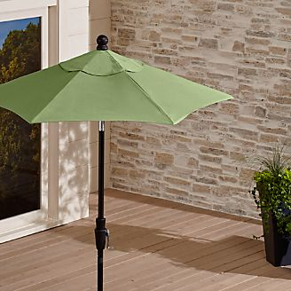 6u0027 Round Sunbrella ® Cilantro Patio Umbrella With Tilt Black Frame