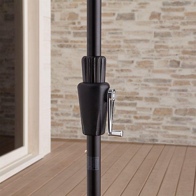 6' Round Tilt Black Umbrella Frame - Image 1 of 6