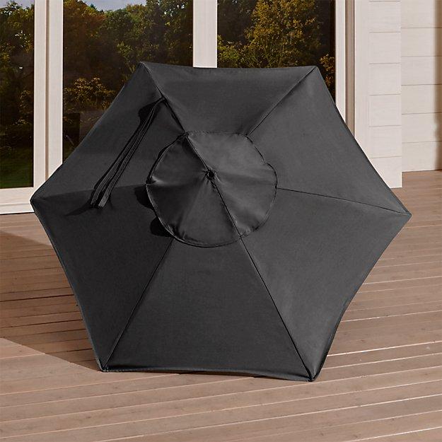 6' Round Sunbrella ® Charcoal Umbrella Canopy - Image 1 of 4