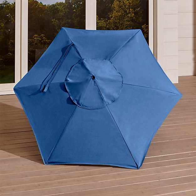 6' Round Sunbrella ® Mediterranean Blue Umbrella Canopy