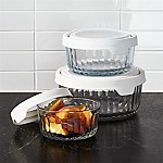 Anchor Hocking Embossed Glass 6-Piece Food Storage with TrueSeal White Lids