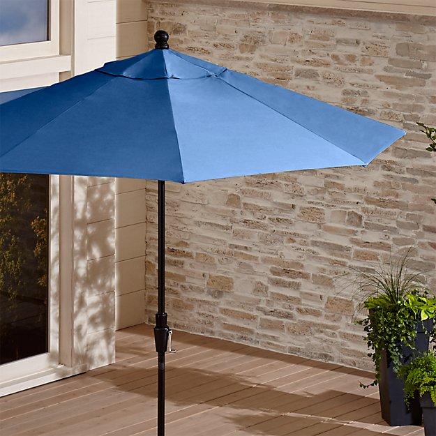 Sunbrella 174 Blue Market Umbrella Crate And Barrel