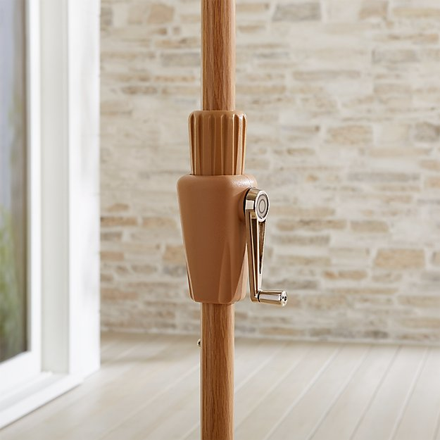 9' Round Tilt Faux Wood Umbrella Frame - Image 1 of 3