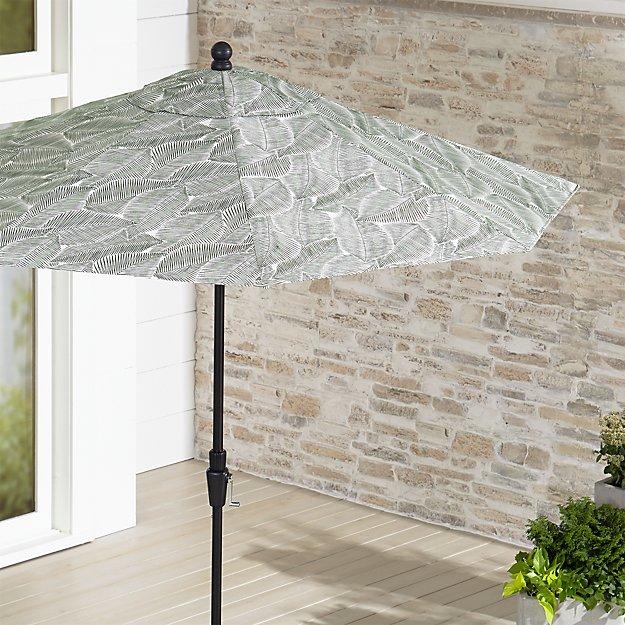 9 Round Sunbrella Isle Palm Patio Umbrella With Tilt Black Frame