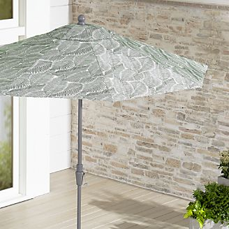 9u0027 Round Sunbrella ® Isle Palm Patio Umbrella With Tilt Silver Frame