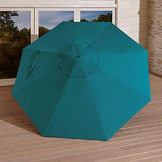 9' Round Sunbrella ® Bold Turquoise Umbrella Canopy