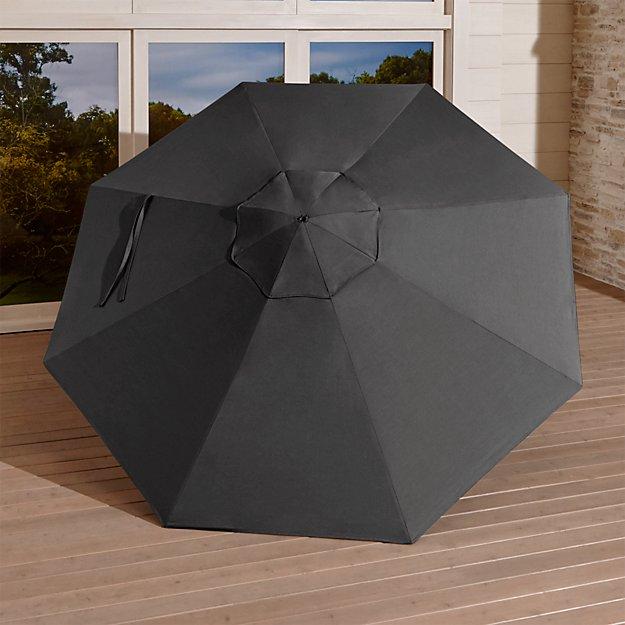 9' Round Sunbrella ® Charcoal Umbrella Canopy - Image 1 of 4