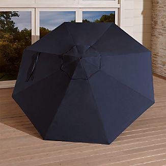 9' Round Sunbrella ® Dark Navy Umbrella Canopy