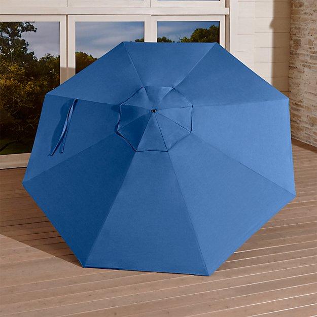 9' Round Sunbrella ® Mediterranean Blue Umbrella Canopy