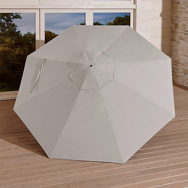 9' Round Sunbrella ® Silver Umbrella Canopy - Image 1 of 3