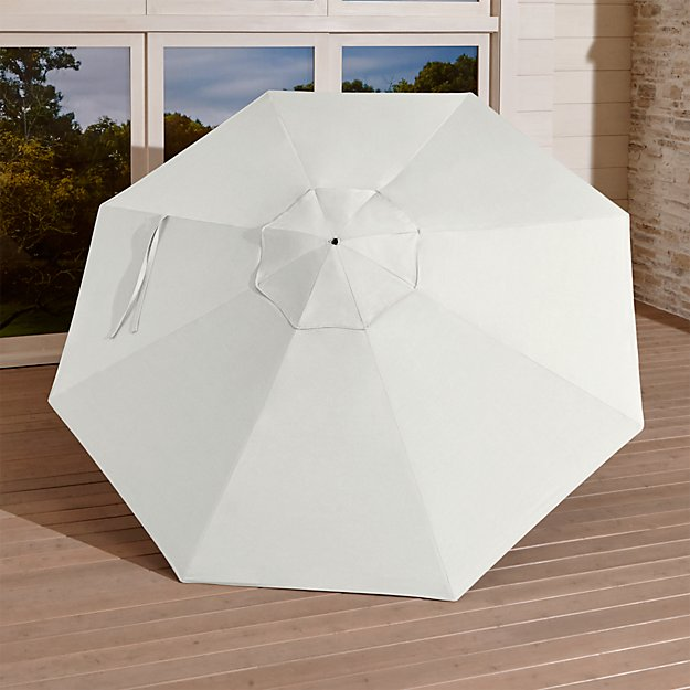 9' Round Sunbrella ® White Sand Umbrella Canopy - Image 1 of 6