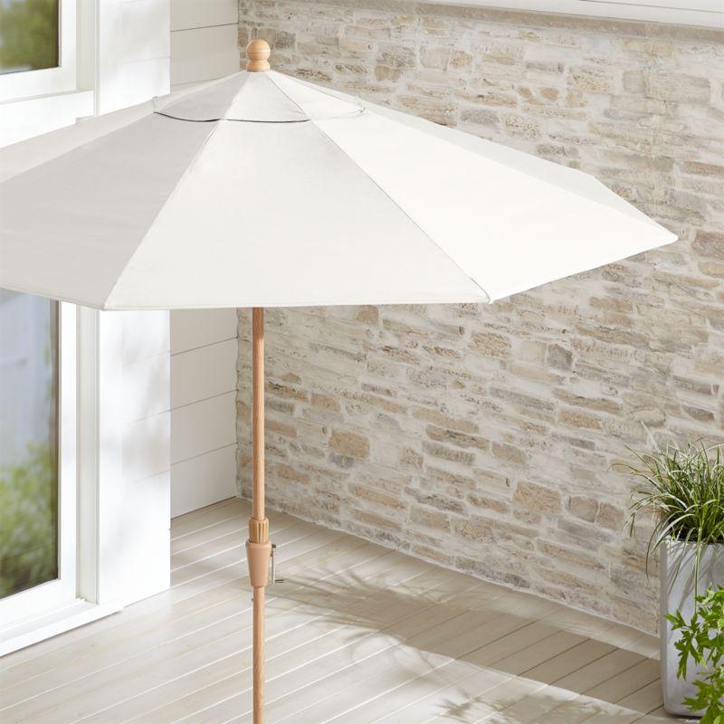 Sunbrella White Sand Patio Umbrella