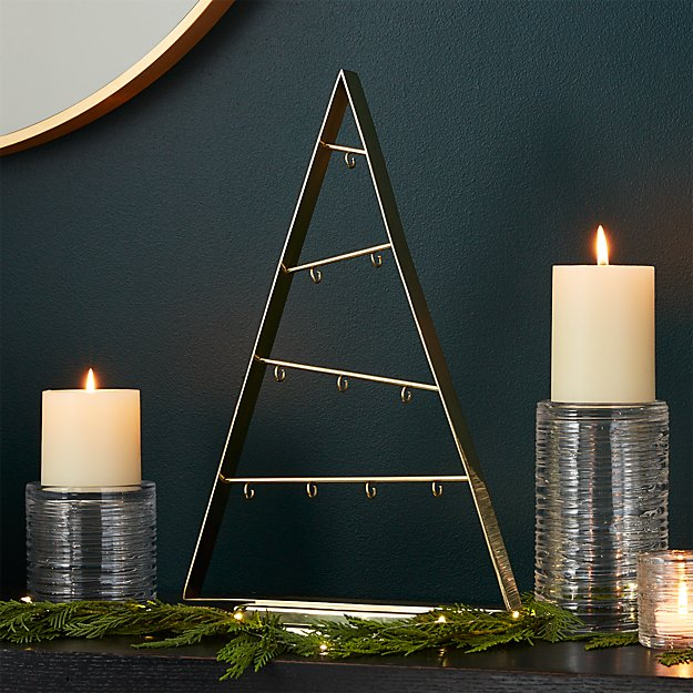 Small A-Frame Gold Ornament Tree