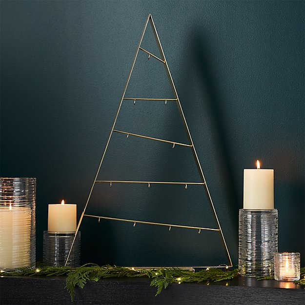 Large A-Frame Gold Ornament Tree