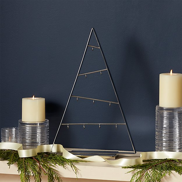 Small Silver A-Frame Ornament Tree