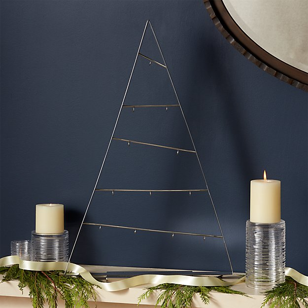 Large Silver A-Frame Ornament Tree