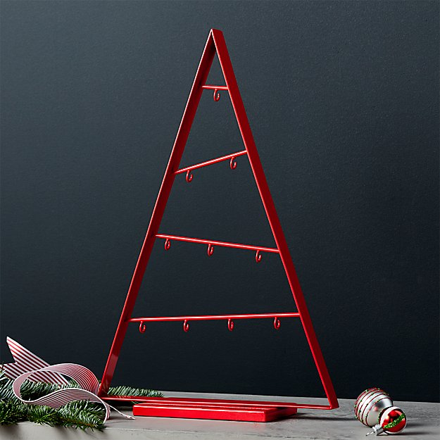 Small Red A-Frame Ornament Tree