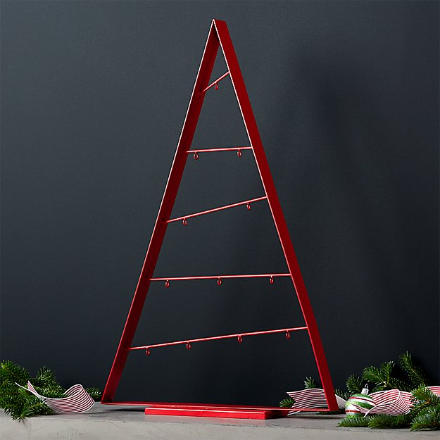"A-Frame 26"" Red Ornament Tree"