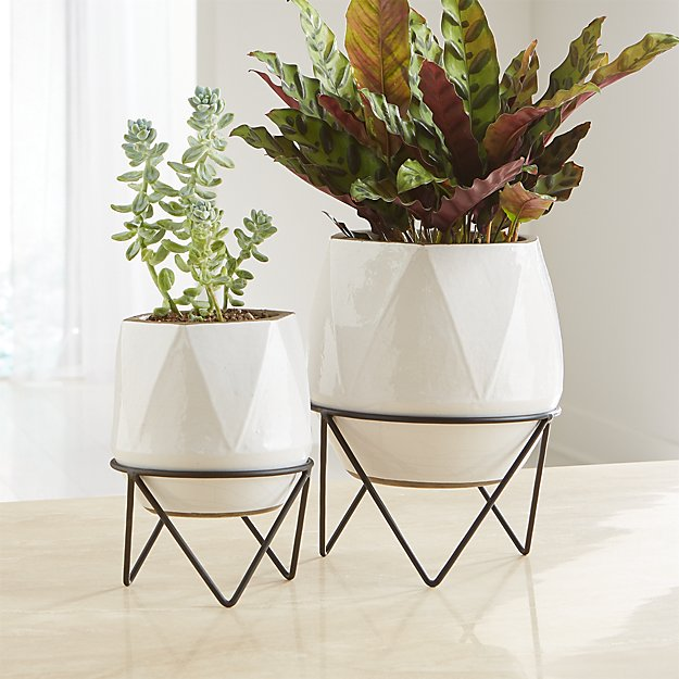 Aaro Planters with Stands - Image 1 of 2