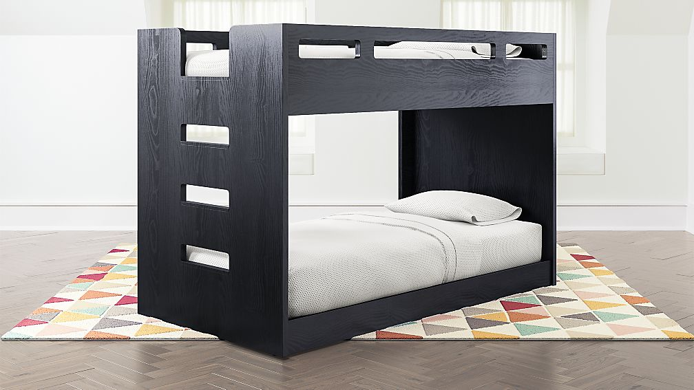 Abridged Charcoal Glaze Low Twin Bunk Bed With Left Ladder Reviews