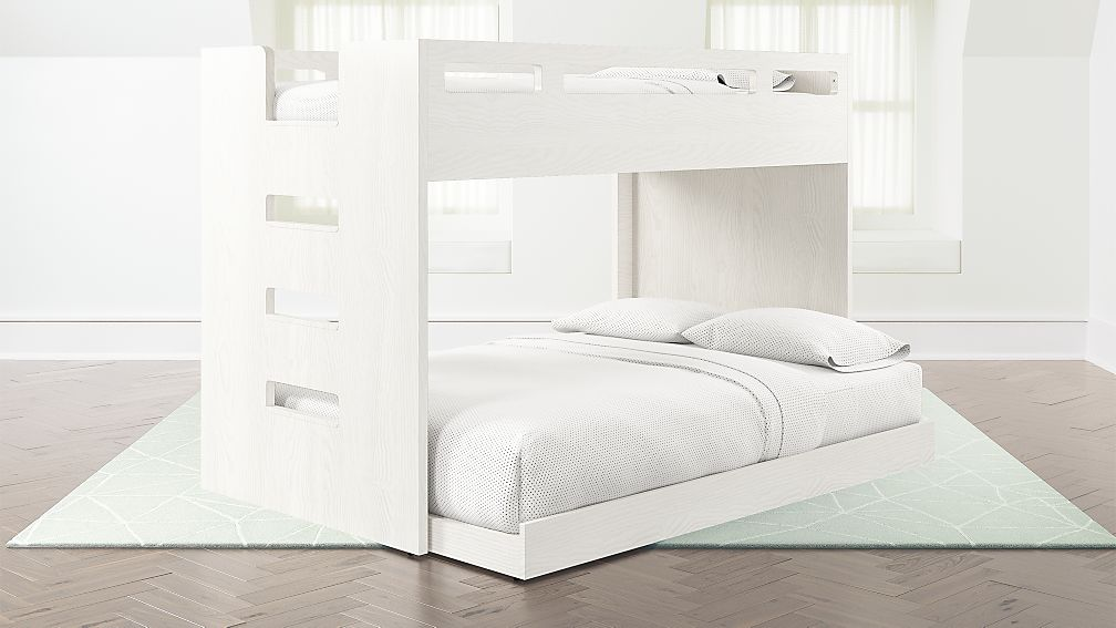 Abridged White Glaze Twin Over Full Bunk Bed With Left