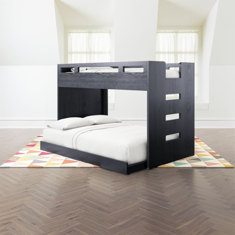 Abridged Charcoal Glaze Twin Over Full Bunk Bed