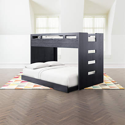 Abridged Charcoal Glaze Twin Over Full Bunk Bed Crate And Barrel Canada