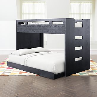 Abridged Charcoal Glaze Twin Over Full Bunk Bed Kids