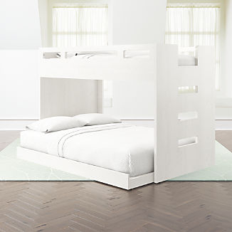 Abridged White Glaze Twin Over Full Bunk Bed