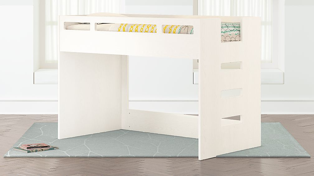 Abridged White Glaze Low Twin Loft Bed Crate And Barrel