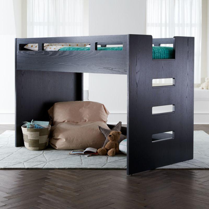 Abridged Charcoal Glaze Low Twin Loft Bed Reviews
