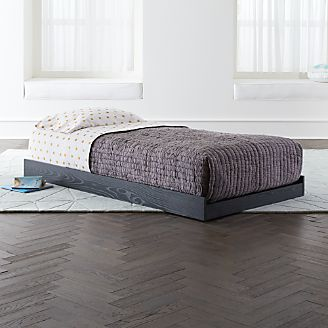 Abridged Charoal Glaze Rolling Twin Bed