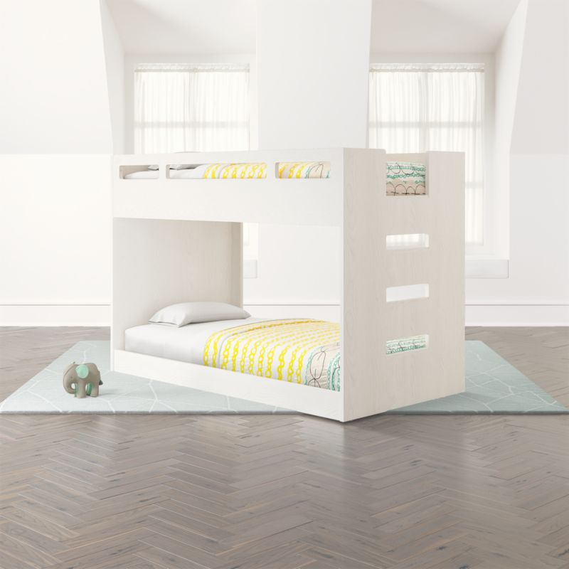 Abridged White Glaze Low Twin Bunk Bed Crate And Barrel