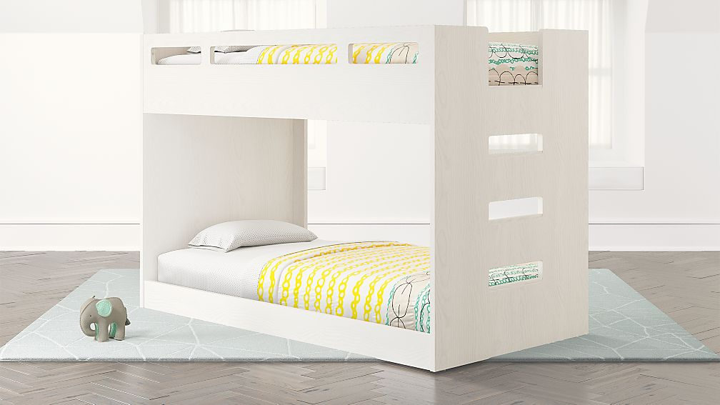 Abridged White Glaze Low Twin Bunk Bed - Image 1 of 9