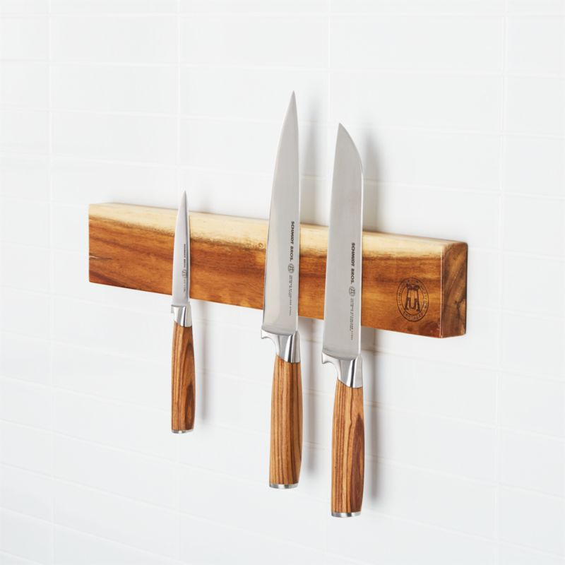Wooden Magnetic Knife Holder Reviews Crate And Barrel