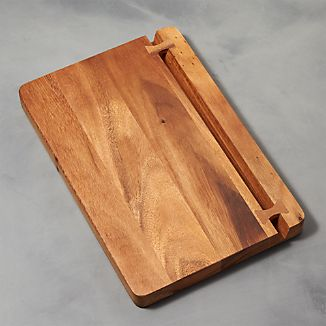 Acacia Cutting Board with Knife Holder