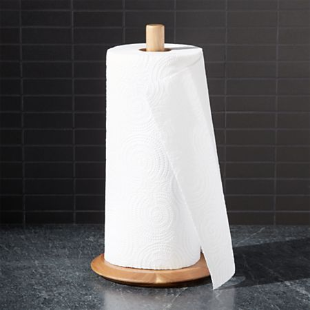 Acacia Paper Towel Holder