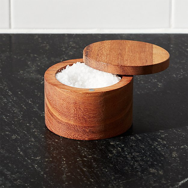 Acacia Salt Cellar Crate And Barrel