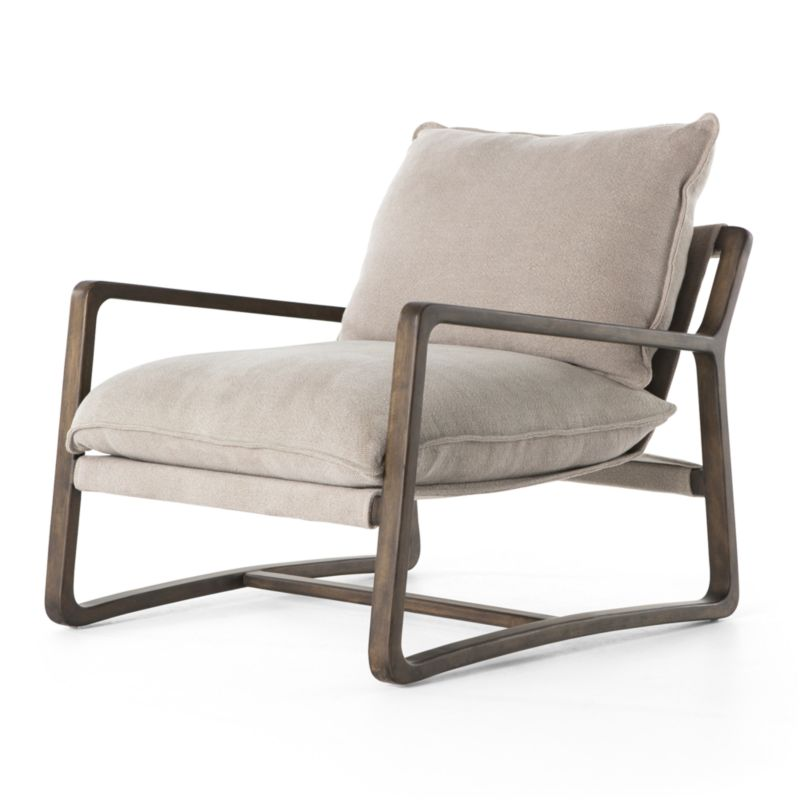 Polly Ivory Accent Chair by Crate&Barrel