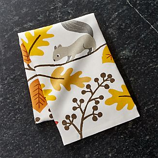 Acorn Forest Dish Towel