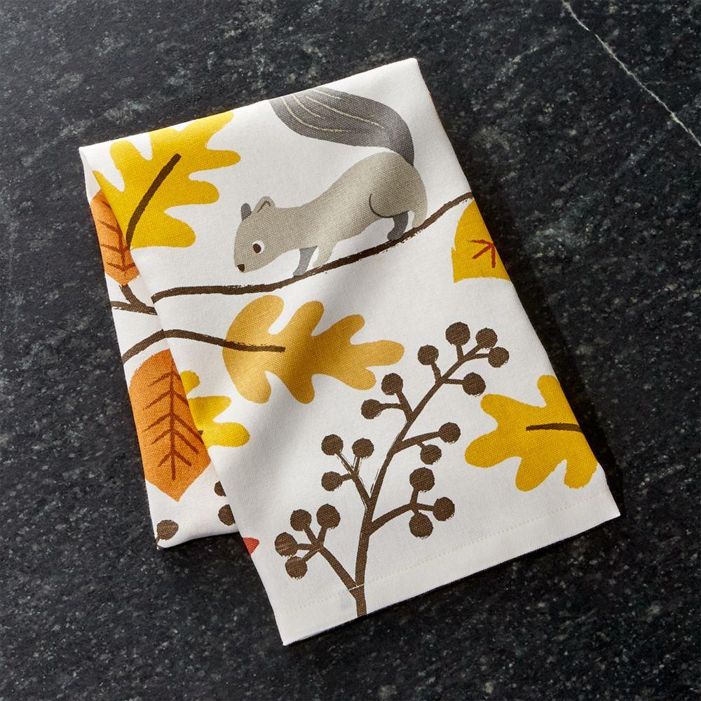 Acorn Forest Dish Towel