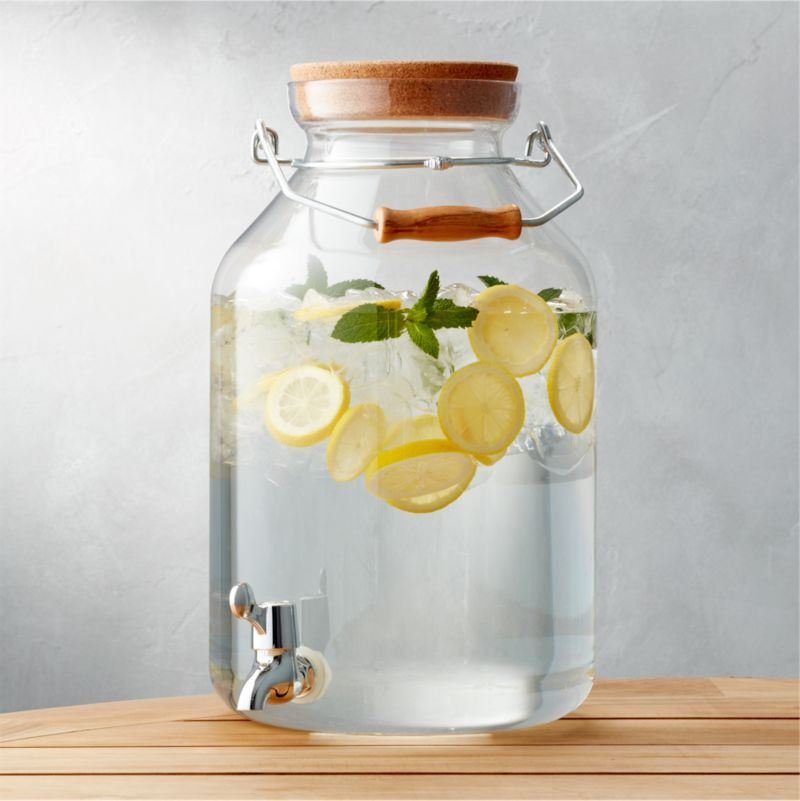 Acrylic Drink Dispenser 3 Gal Reviews Crate And Barrel