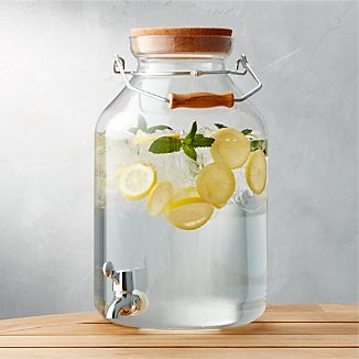 Acrylic Drink Dispenser & Beverage Dispensers | Crate and Barrel