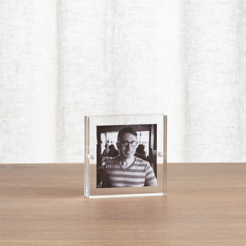 Acrylic 5x7 Block Picture Frame + Reviews | Crate and Barrel