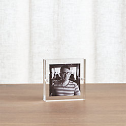 acrylic 8x10 block picture frame reviews crate and barrel. Black Bedroom Furniture Sets. Home Design Ideas