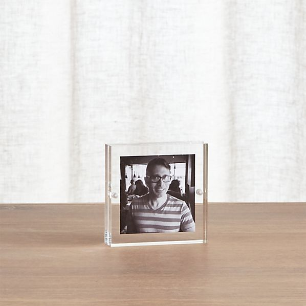 Acrylic 3x3 Block Picture Frame