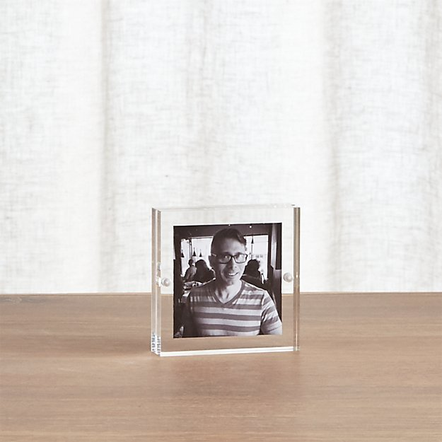 Acrylic 3x3 Block Picture Frame + Reviews | Crate and Barrel